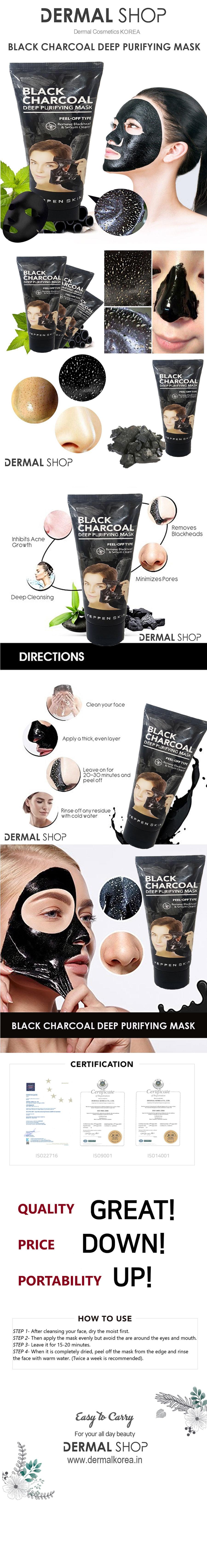 Dermal Yeppen Skin Black Charcoal Deep Purifying Mask